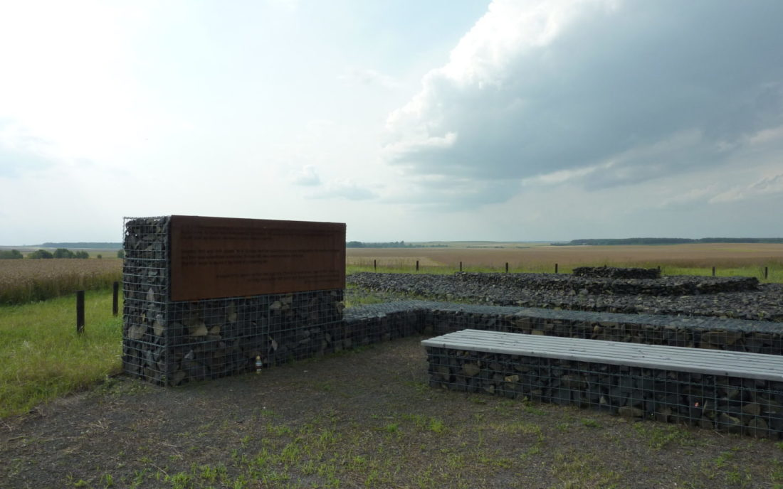 The memorial site in Kysylyn after being tidied up by the local community, July 2017