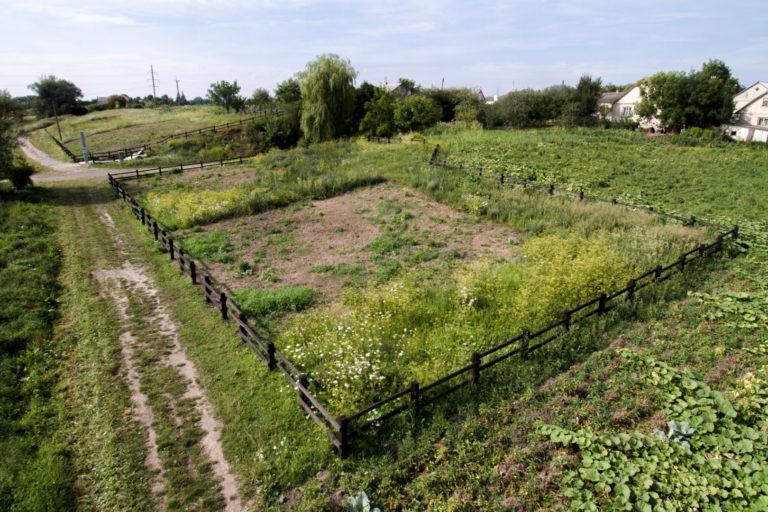 Die einstige Erschießungsstätte und heutiger Gedenkort befindet sich in unmittelbarer Nähe des Dorfes, Juli 2015