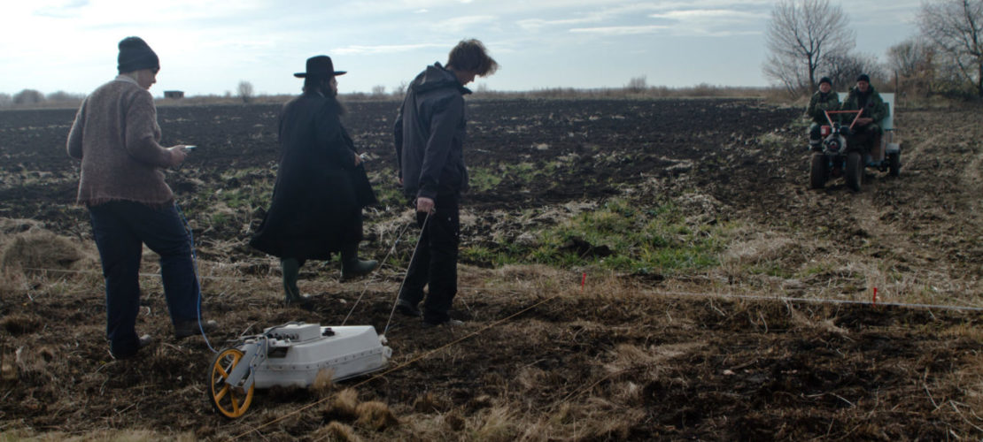 Here, too, rabbis were present during non-invasive ground survey, November 2016