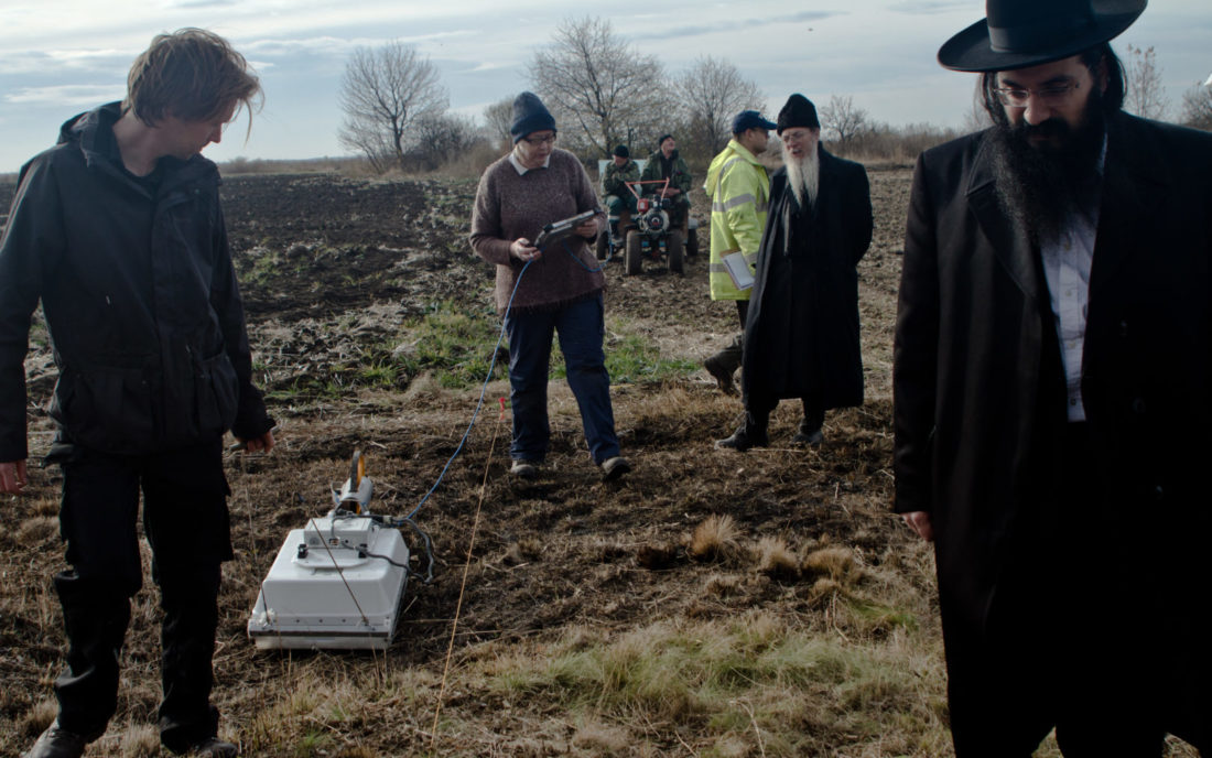 The process of locating the mass graves in Chukiv was carried out using non-invasive methods so as not to disturb the final resting place of the dead, November 2016
